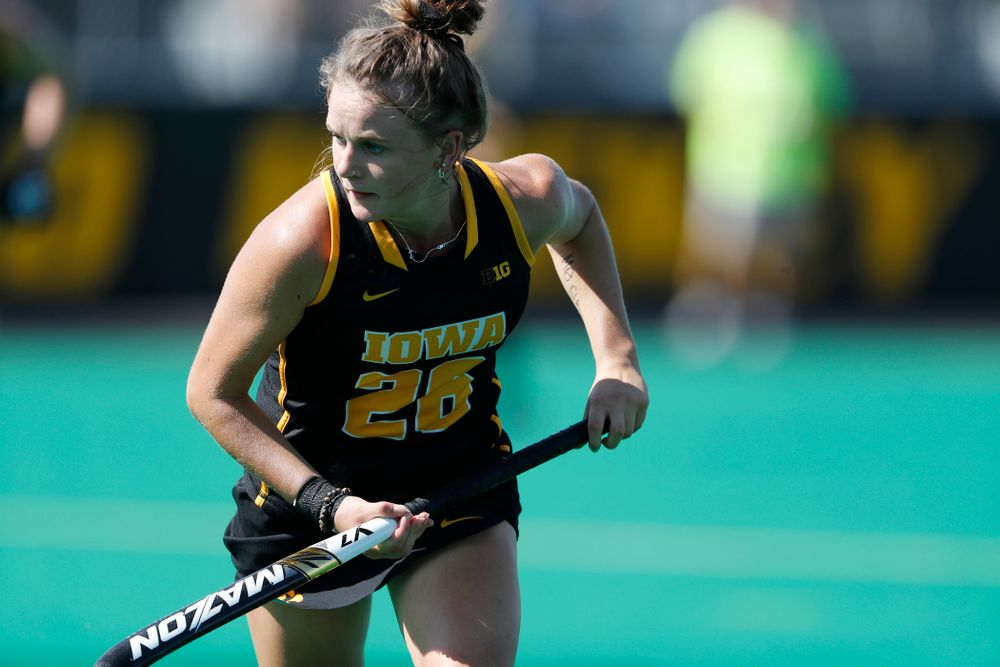 Iowa Hawkeyes Maddy Murphy (26) against the Penn Quakers Friday, September 14, 2018 at Grant Field. (Brian Ray/hawkeyesports.com)