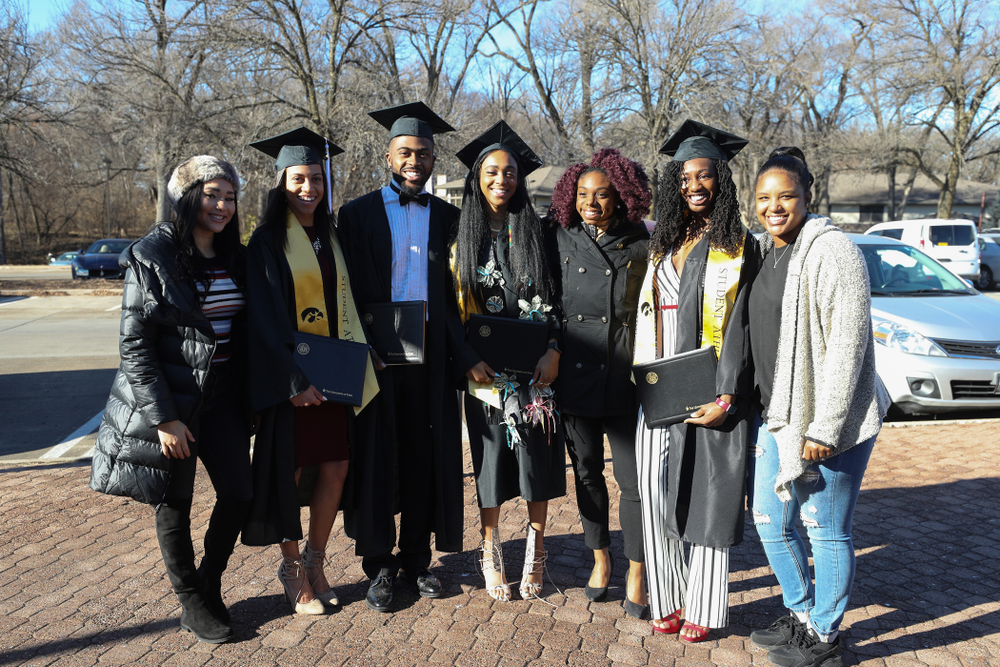Iowa Track and Field Graduates during the Fall Commencement Ceremony  Saturday, December 15, 2018 at Carver-Hawkeye Arena. (Brian Ray/hawkeyesports.com)
