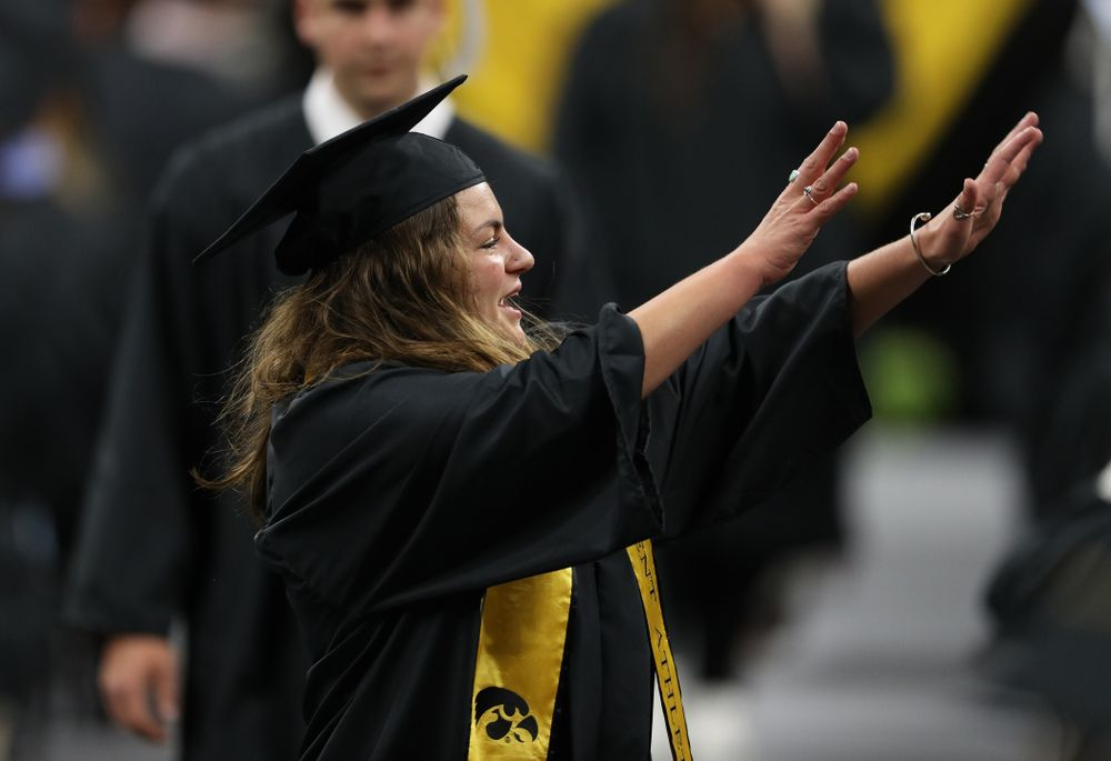 Iowa VolleyballÕs Molly Kelly during the College of Liberal Arts and Sciences spring commencement Saturday, May 11, 2019 at Carver-Hawkeye Arena. (Brian Ray/hawkeyesports.com)