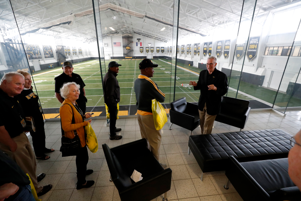 Members of the 1958 National Championship Team tour the Hansen Football Performance  Center  Friday, September 21, 2018. (Brian Ray/hawkeyesports.com)