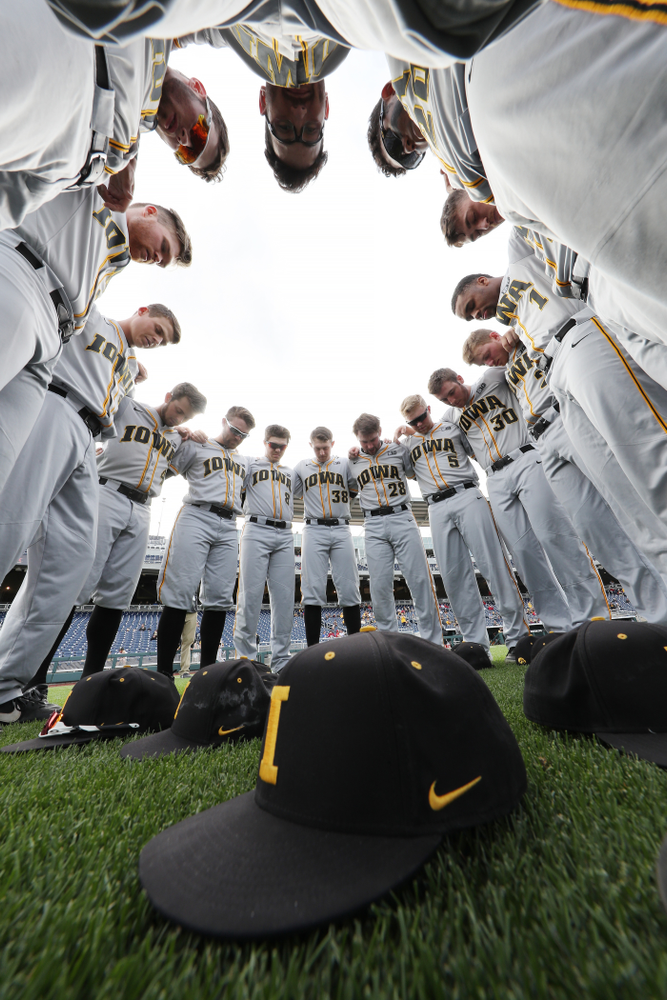 The Iowa Hawkeyes against the Indiana Hoosiers in the first round of the Big Ten Baseball Tournament Wednesday, May 22, 2019 at TD Ameritrade Park in Omaha, Neb. (Brian Ray/hawkeyesports.com)