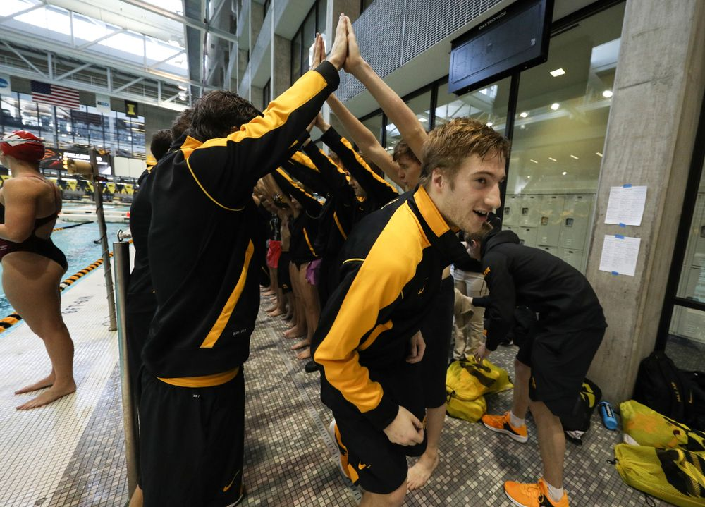 Will Brenner is introduced during senior day before a double dual against Wisconsin and Northwestern Saturday, January 19, 2019 at the Campus Recreation and Wellness Center. (Brian Ray/hawkeyesports.com)
