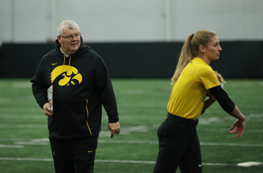 Iowa Hawkeyes assistant coach Rick Dillinger during they team's annual media day Friday, February 1, 2019 at the Hawkeye Tennis and Recreation Complex. (Brian Ray/hawkeyesports.com)