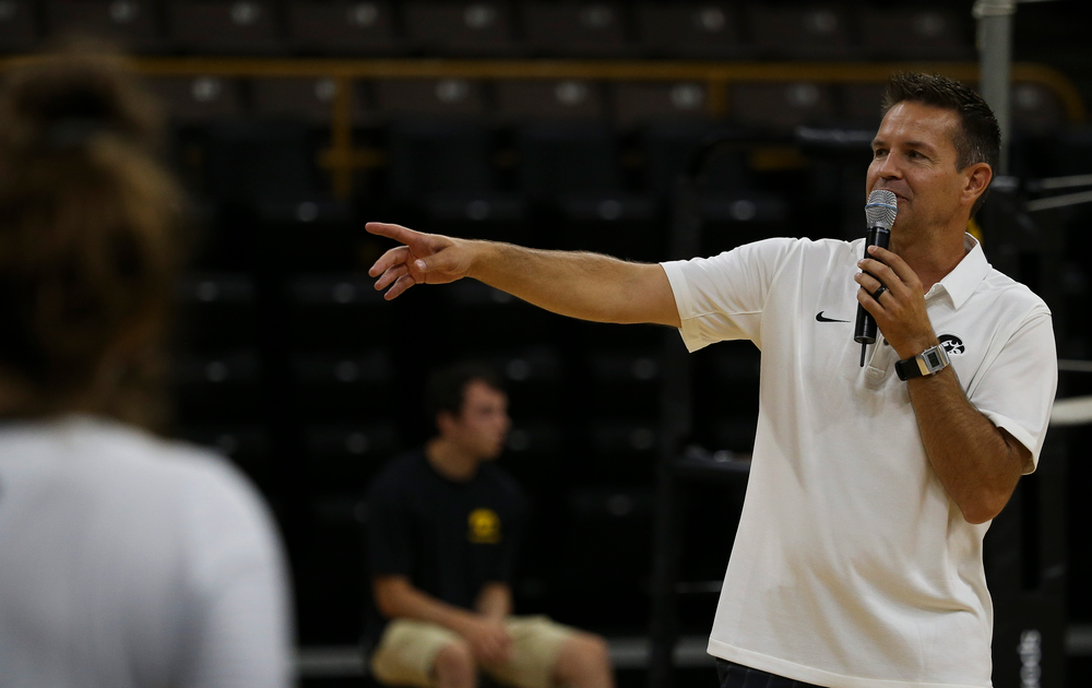 Iowa Hawkeyes head coach Bond Shymansky