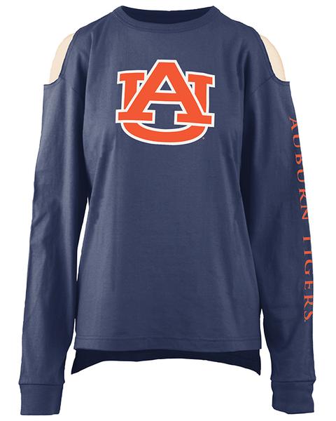 Auburn Tigers War Eagle AU Womens NCAA Long Sleeve 65GG1A