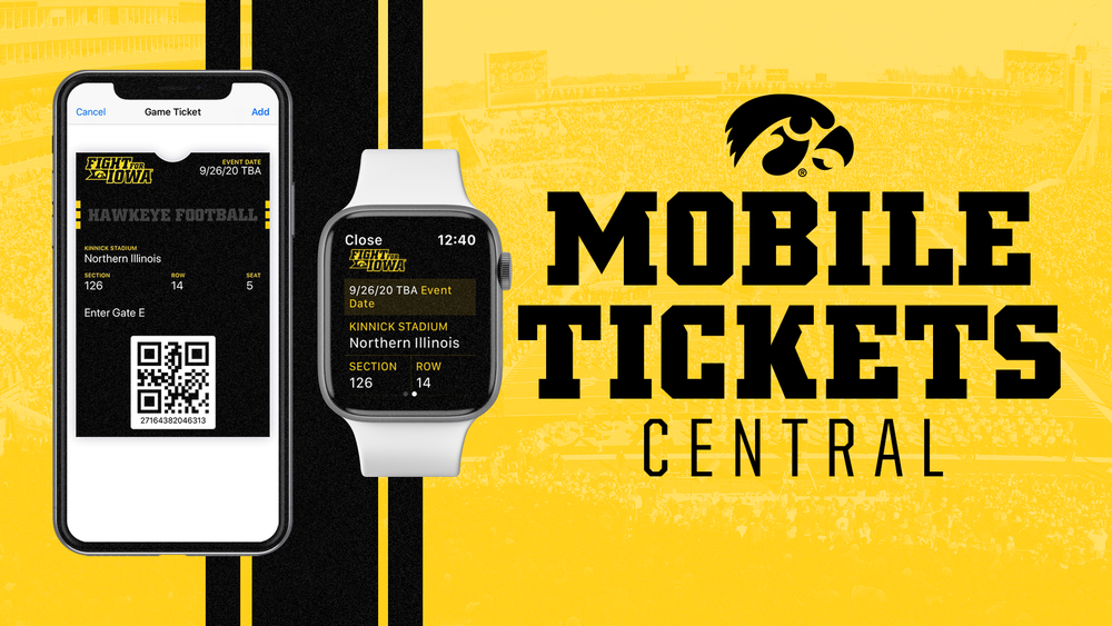 Smartphone and smart watches showing digital tickets.