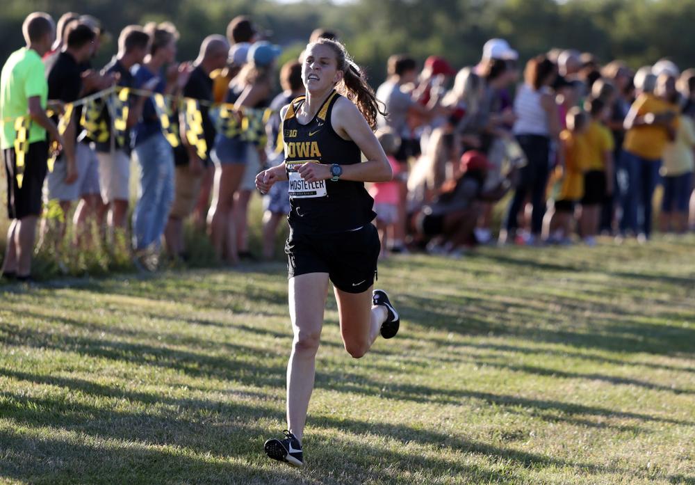 IowaÕs Anna Hostetler runs in the 2019 Hawkeye Invitational Friday, September 6, 2019 at the Ashton Cross Country Course. (Brian Ray/hawkeyesports.com)