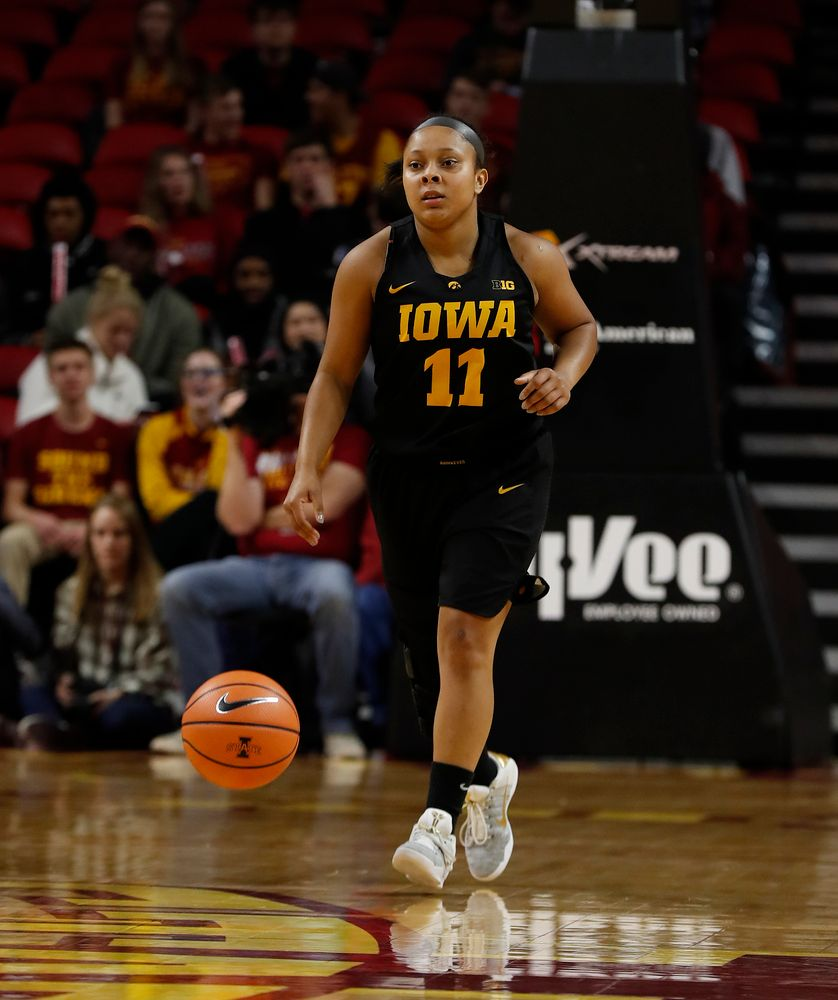 Iowa Hawkeyes guard Tania Davis (11)