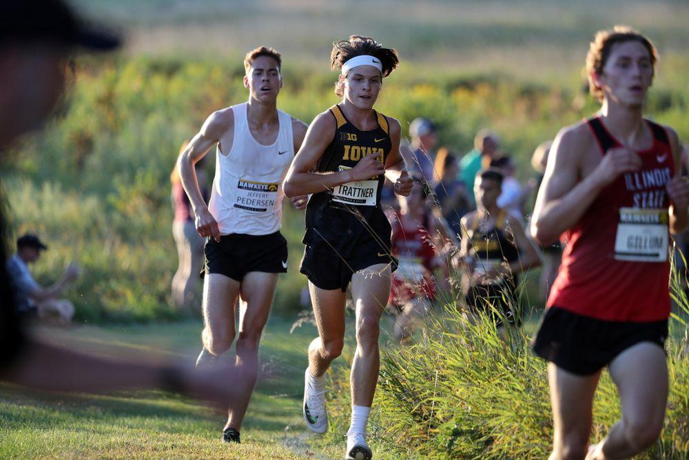 IowaÕs Nick Trattner runs in the 2019 Hawkeye Invitational Friday, September 6, 2019 at the Ashton Cross Country Course. (Brian Ray/hawkeyesports.com)