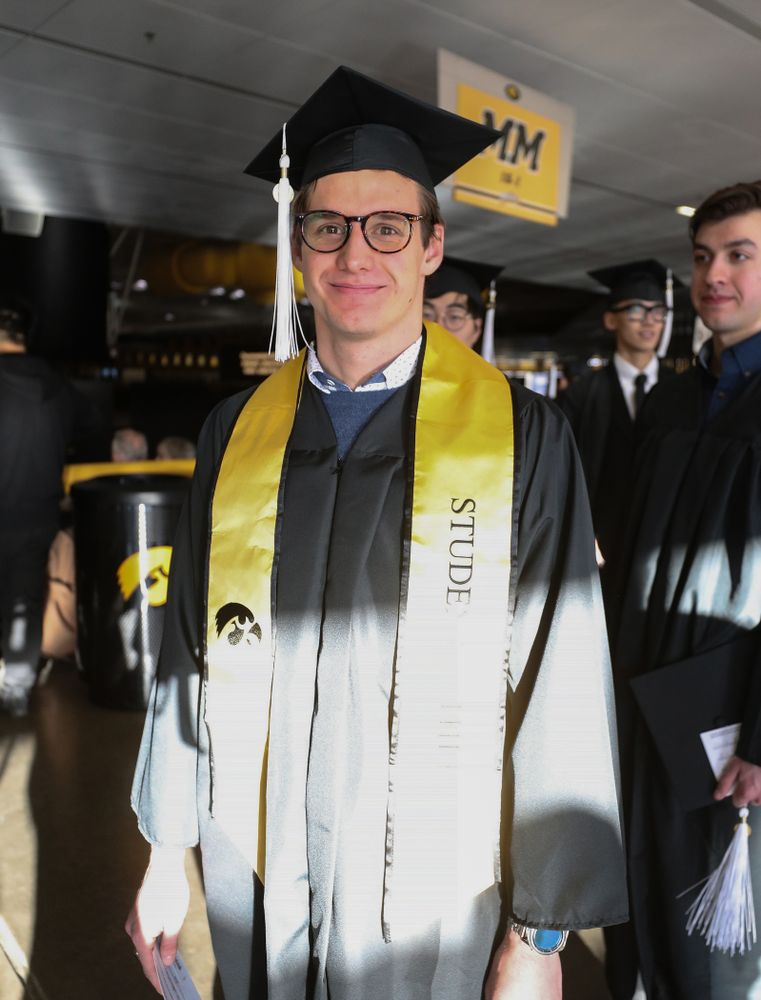 Iowa Swimming's Jerzy Twarowski during the Fall Commencement Ceremony  Saturday, December 15, 2018 at Carver-Hawkeye Arena. (Brian Ray/hawkeyesports.com)