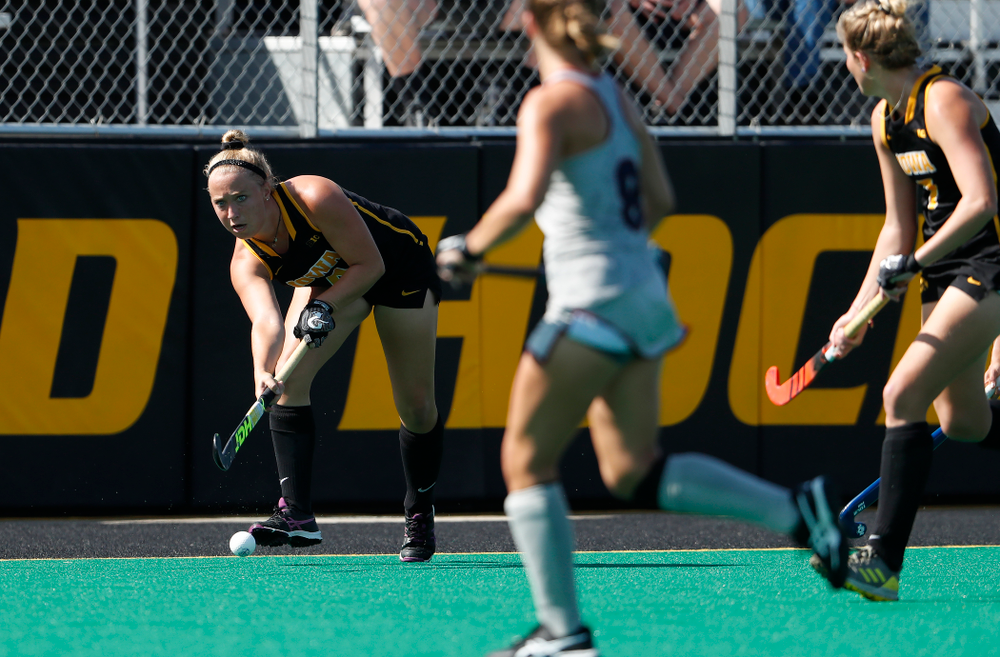 Iowa Hawkeyes Makenna Grewe (4) against the Penn Quakers Friday, September 14, 2018 at Grant Field. (Brian Ray/hawkeyesports.com)