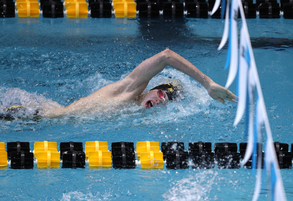 Iowa's Andrew Fierke swims in the preliminaries of the 500-yard freestyle during the 2019 Big Ten Swimming and Diving Championships Thursday, February 28, 2019 at the Campus Wellness and Recreation Center. (Brian Ray/hawkeyesports.com)