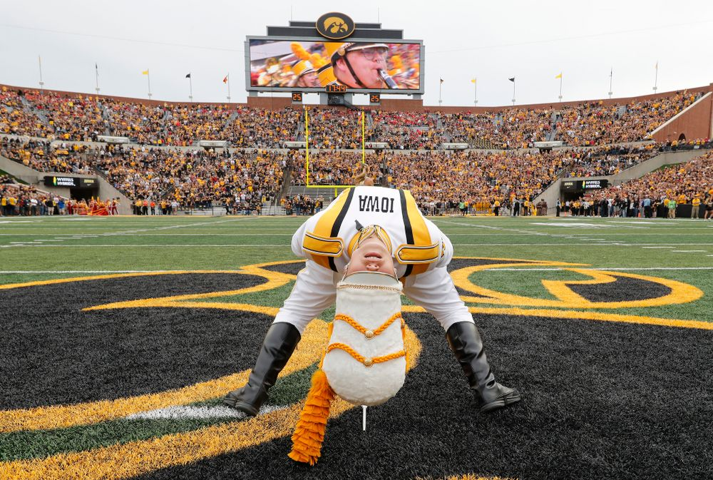 Hawkeye Marching Band Drum Major Analisa Iole before the Hawkeyes Game against the Iowa State Cyclones Saturday, September 8, 2018 at Kinnick Stadium. (Brian Ray/hawkeyesports.com)