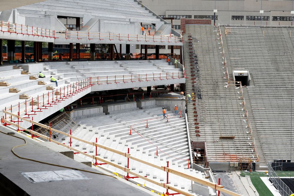 Work continues on the new north end zone Wednesday, June 6, 2018 at Kinnick Stadium. (Brian Ray/hawkeyesports.com)
