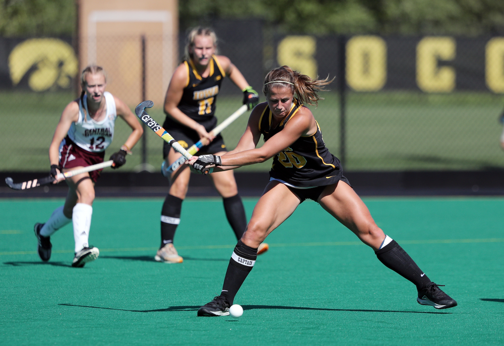 Iowa Hawkeyes Sophie Sunderland (20) against Central Michigan Friday, September 6, 2019 at Grant Field. The Hawkeyes won the game 11-0. (Brian Ray/hawkeyesports.com)