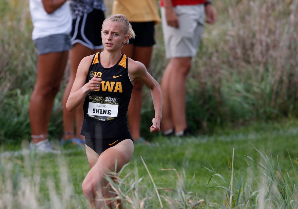 Andrea Shine during the Hawkeye Invitational Friday, August 31, 2018 at the Ashton Cross Country Course.  (Brian Ray/hawkeyesports.com)