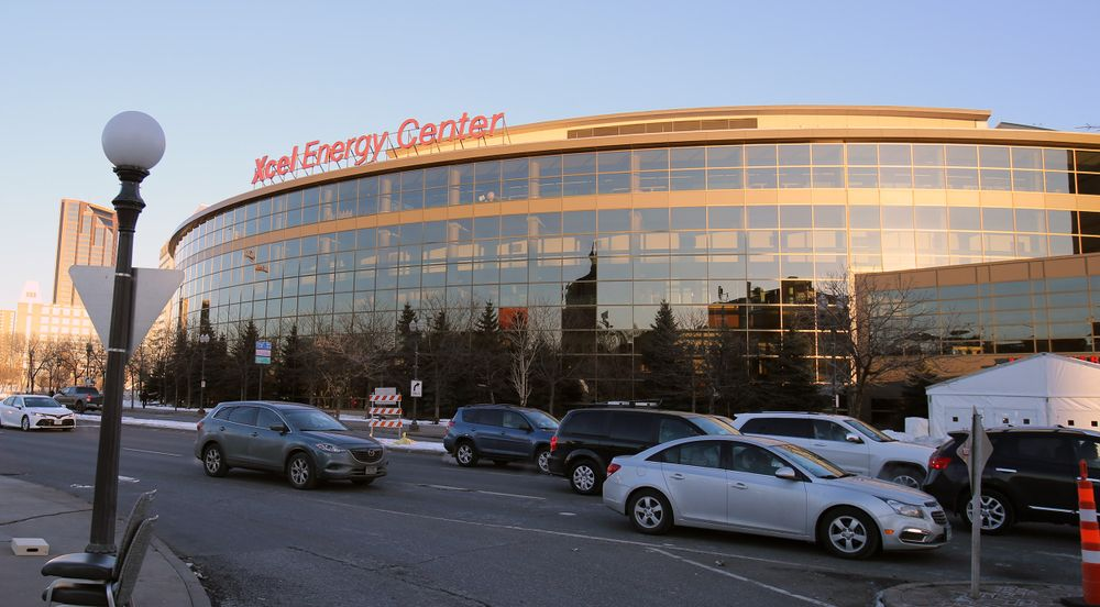 Xcel Energy Arena, site of Super Bowl LII Media Day