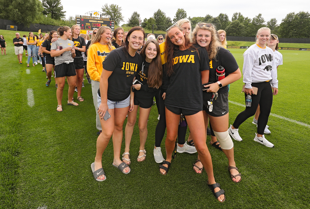 Student-athletes walk in the Parade of Champions during the Student-Athlete Kickoff at the Iowa Soccer Complex in Iowa City on Sunday, Aug 25, 2019. (Stephen Mally/hawkeyesports.com)