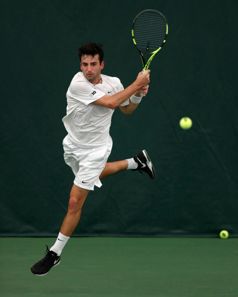 Josh Silverstein against Purdue Sunday, April 15, 2018 at the Hawkeye Tennis and Recreation Center. (Brian Ray/hawkeyesports.com)
