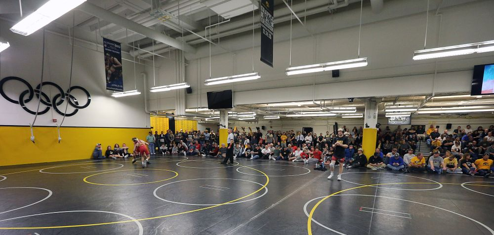 Day 1 of wrestle-offs in the Dan Gable Wrestling Complex