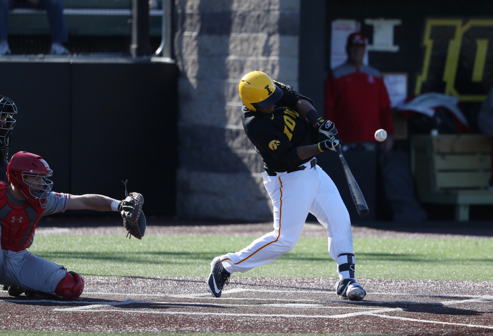Iowa Hawkeyes Izaya Fullard (20) against the Bradley Braves Tuesday, March 26, 2019 at Duane Banks Field. (Brian Ray/hawkeyesports.com)