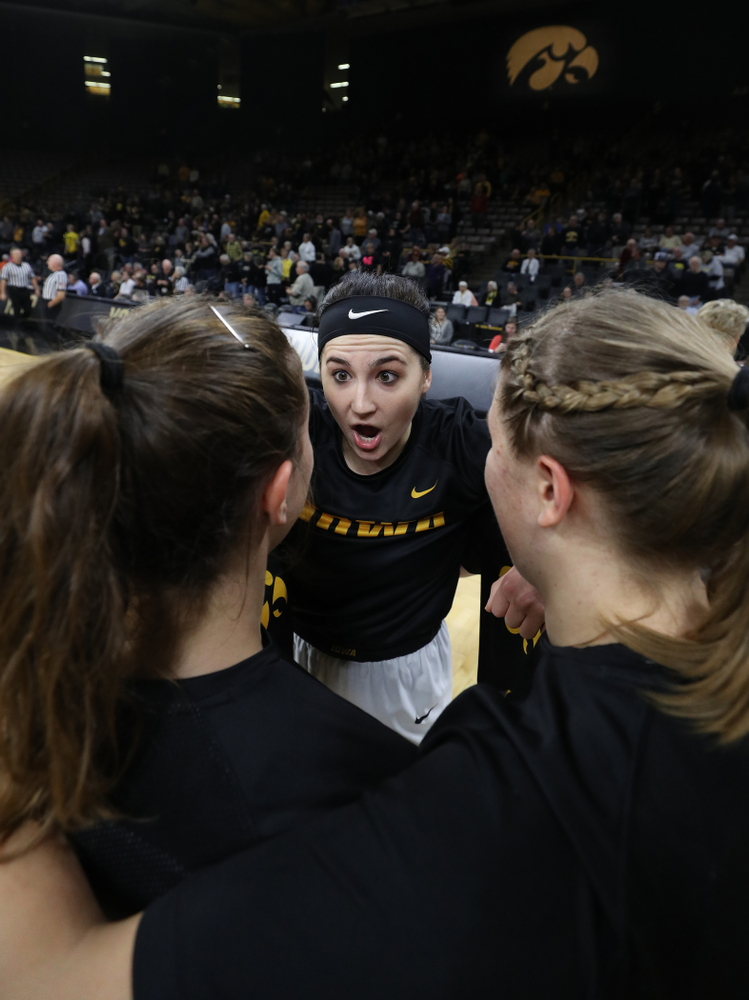Iowa Hawkeyes forward Megan Gustafson (10) against Dakota Wesleyan University Tuesday, November 6, 2018 at Carver-Hawkeye Arena. (Brian Ray/hawkeyesports.com)