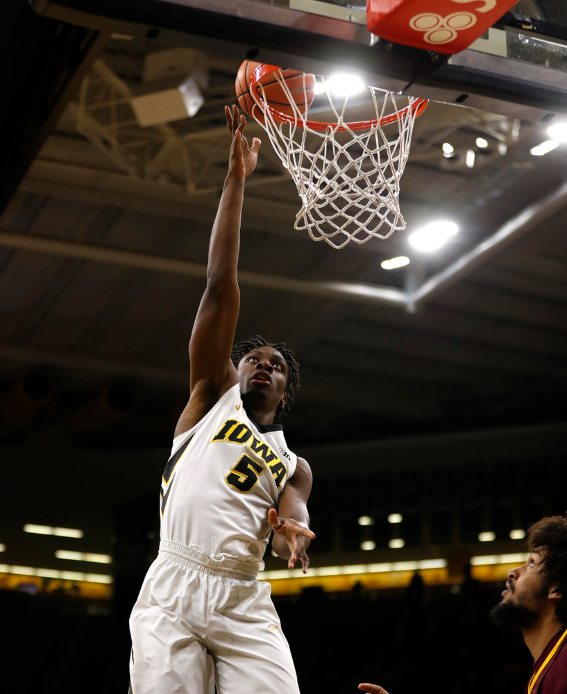 Iowa Hawkeyes forward Tyler Cook (5)