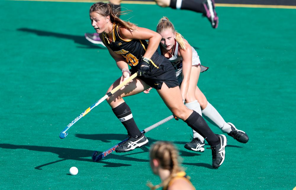 Iowa Hawkeyes Sophie Sunderland (20) against the Penn Quakers Friday, September 14, 2018 at Grant Field. (Brian Ray/hawkeyesports.com)