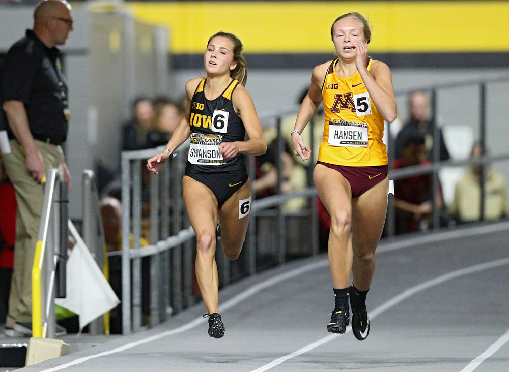 Iowa's Addie Swanson runs the women's 200 meter dash event during the Larry Wieczorek Invitational at the Recreation Building in Iowa City on Friday, January 17, 2020. (Stephen Mally/hawkeyesports.com)