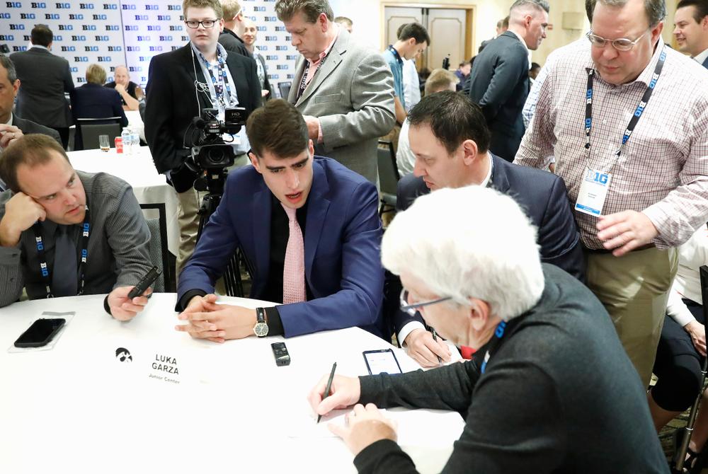 Luka Garza 2019-20 Big Ten Men's Basketball Media Day Photo by Steve Woltmann