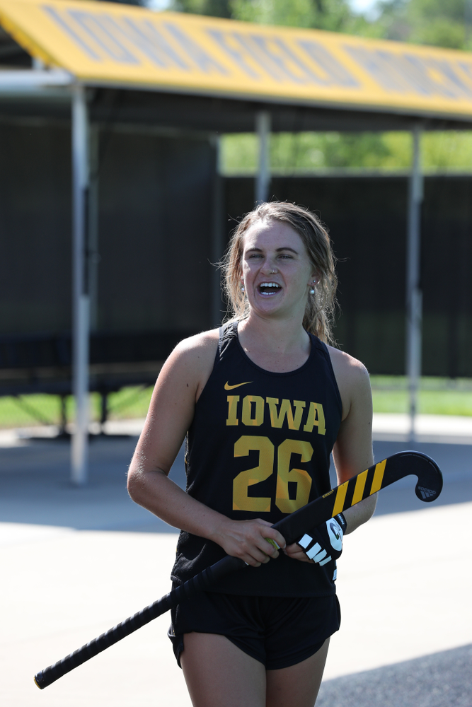 Iowa Hawkeyes forward Maddy Murphy (26) during the teamÕs annual media day Friday, August 23, 2019 at Grant Field. (Brian Ray/hawkeyesports.com)