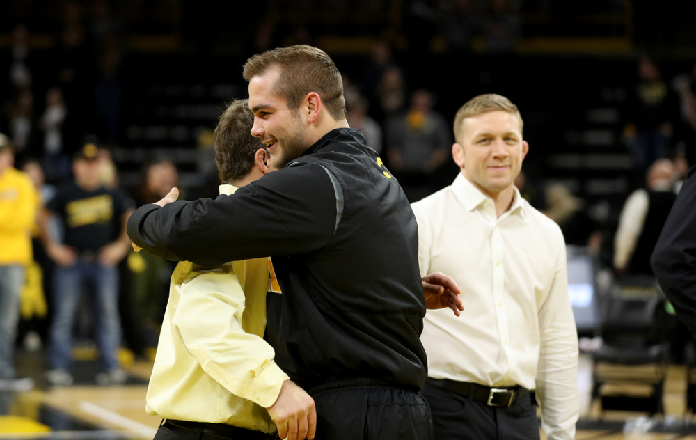 Iowa's Steven Holloway during senior day activities Sunday, February 23, 2020 at Carver-Hawkeye Arena. (Brian Ray/hawkeyesports.com)