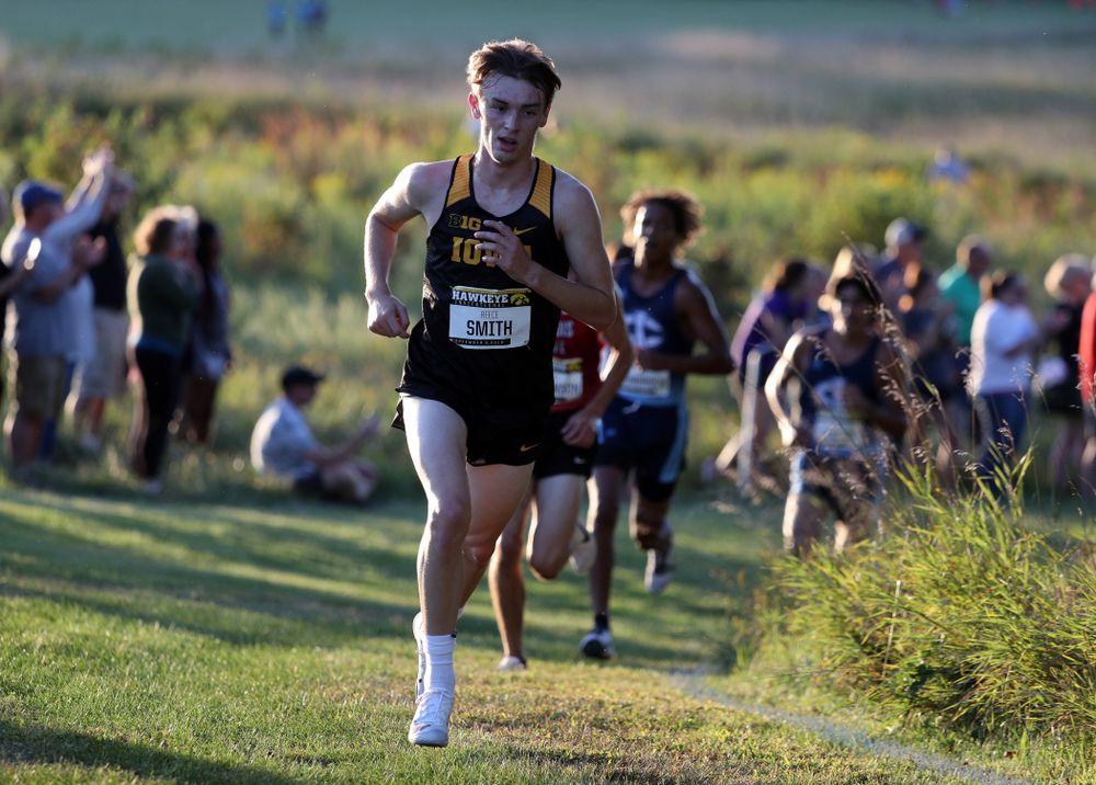 IowaÕs Reece Smith runs in the 2019 Hawkeye Invitational Friday, September 6, 2019 at the Ashton Cross Country Course. (Brian Ray/hawkeyesports.com)