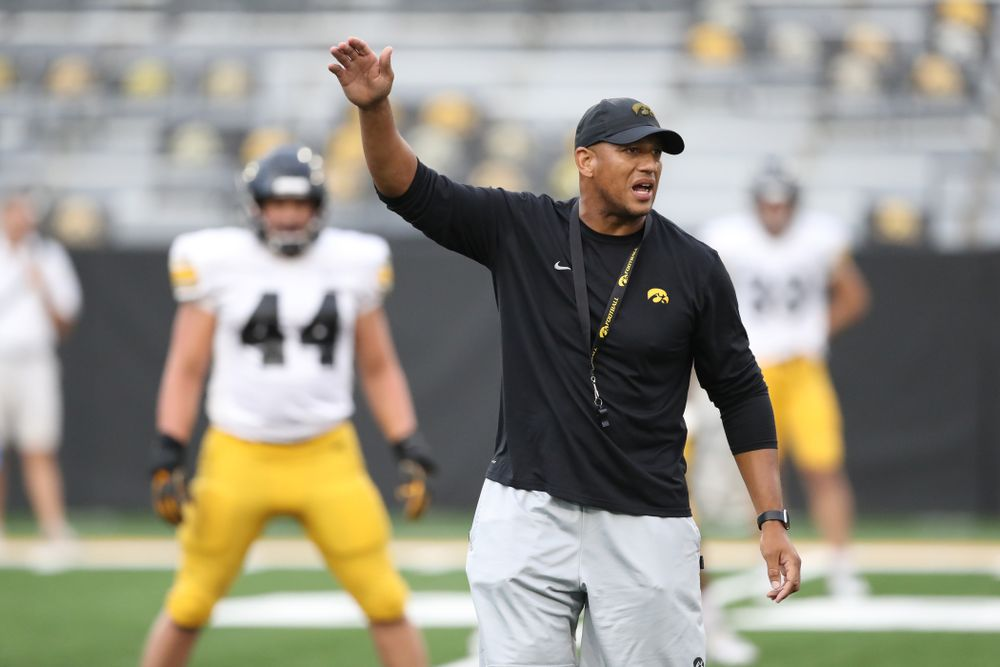 Iowa Hawkeyes special teams coordinator LeVar Woods