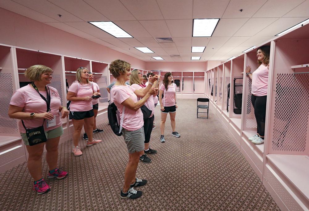 The Ladies Football Academy at Kinnick Stadium in Iowa City on Saturday, Jun 8, 2019. (Stephen Mally/hawkeyesports.com)