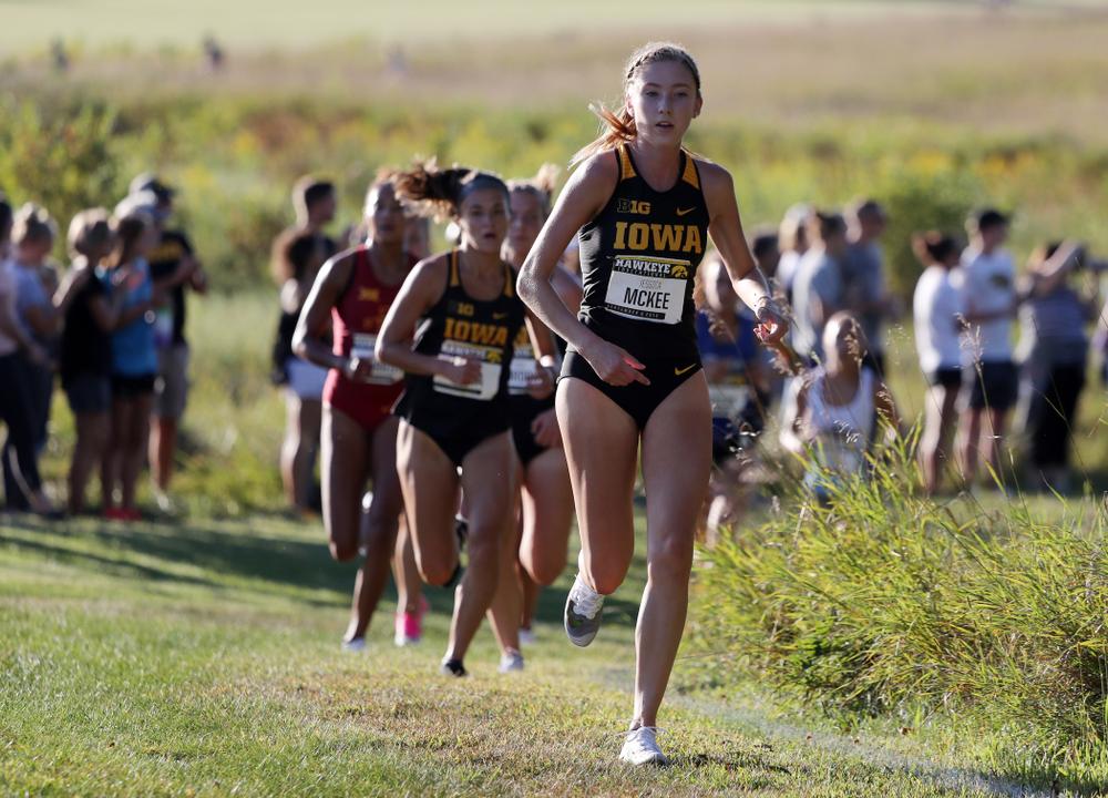 IowaÕs Jessica McKee runs in the 2019 Hawkeye Invitational Friday, September 6, 2019 at the Ashton Cross Country Course. (Brian Ray/hawkeyesports.com)
