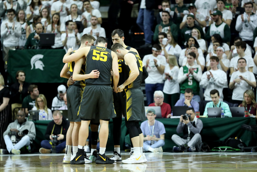 The Iowa Hawkeyes against Michigan State Tuesday, February 25, 2020 at the Breslin Center in East Lansing, MI. (Brian Ray/hawkeyesports.com)