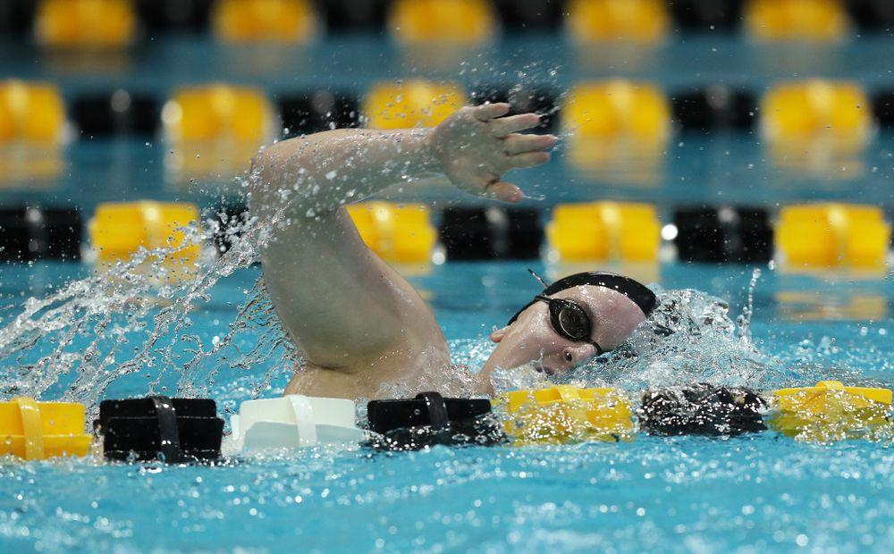Iowa's Natalie McGovern swims the 200 yard Individual Medley Thursday, November 15, 2018 during the 2018 Hawkeye Invitational at the Campus Recreation and Wellness Center. (Brian Ray/hawkeyesports.com)