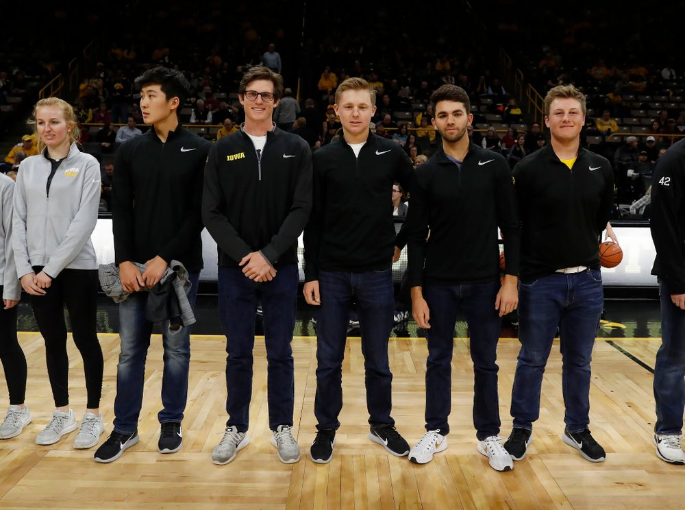Iowa Men's Golf during the PCA recognition