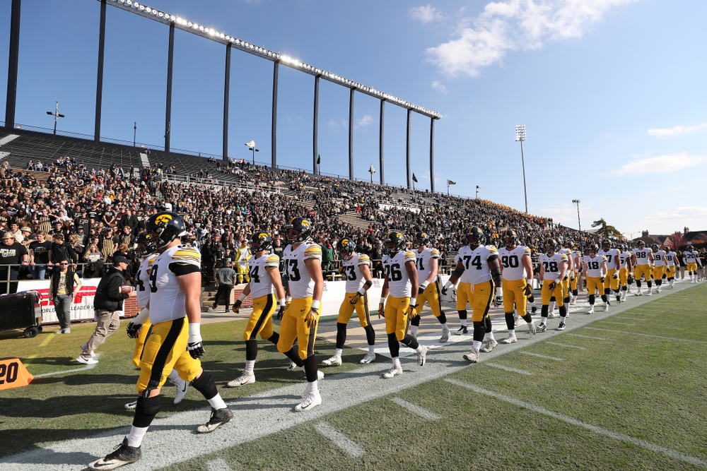 The Iowa Hawkeyes against the Purdue Boilermakers Saturday, November 3, 2018 Ross Ade Stadium in West Lafayette, Ind. (Brian Ray/hawkeyesports.com)