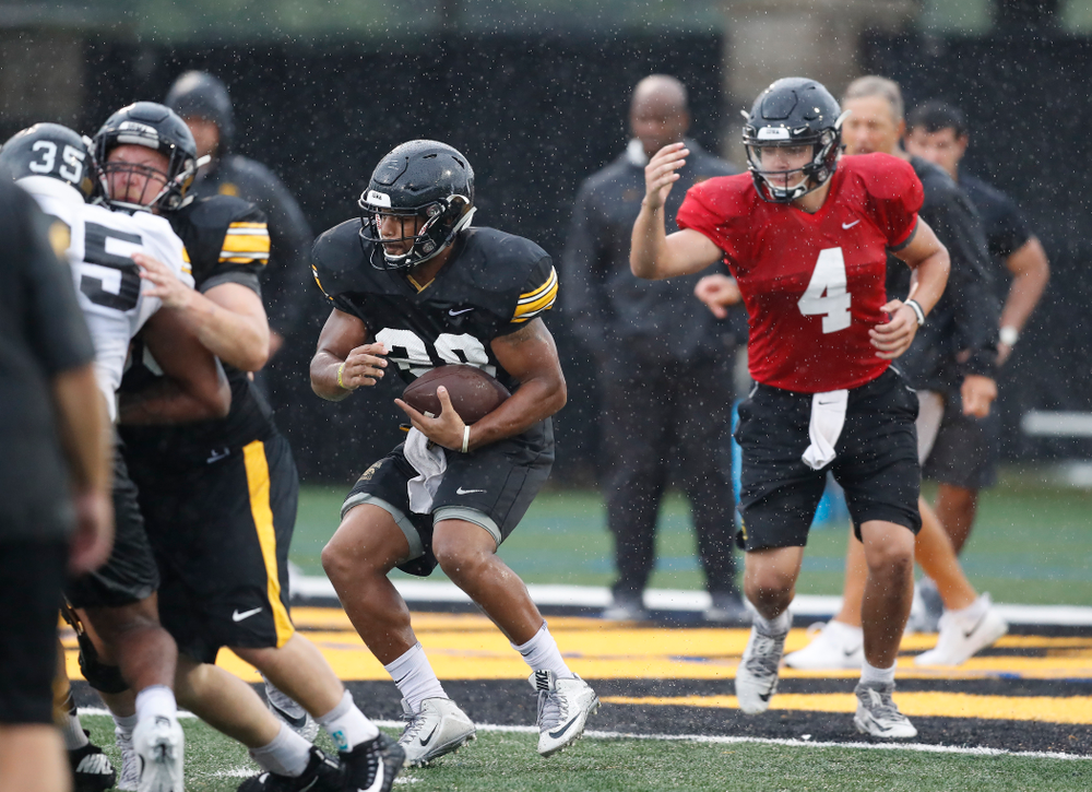 Iowa Hawkeyes running back Toren Young (28) during camp practice No. 15  Monday, August 20, 2018 at the Hansen Football Performance Center. (Brian Ray/hawkeyesports.com)