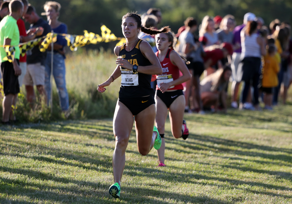 IowaÕs Mallory King runs in the 2019 Hawkeye Invitational Friday, September 6, 2019 at the Ashton Cross Country Course. (Brian Ray/hawkeyesports.com)