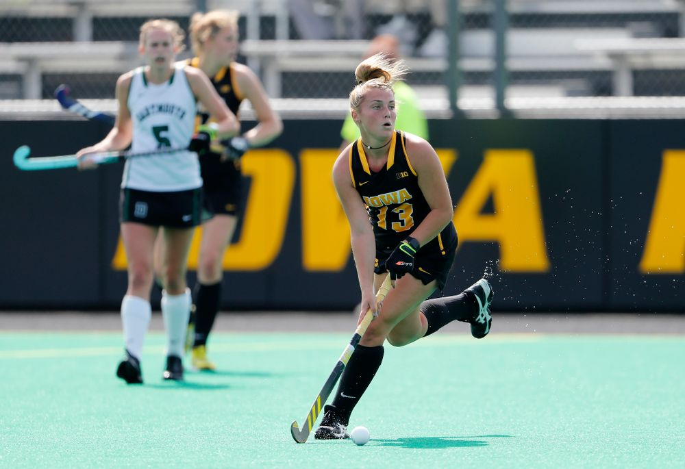 Iowa Hawkeyes Leah Zellner (13) against Dartmouth Friday, August 31, 2018 at Grant Field.  (Brian Ray/hawkeyesports.com)