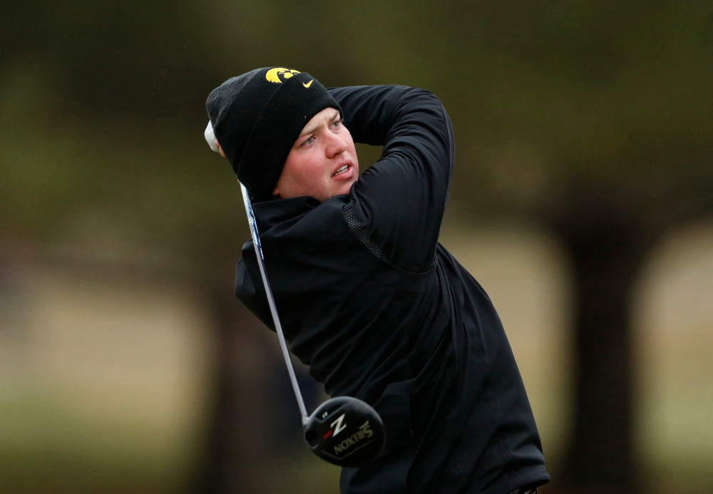 Iowa's Matthew Walker during day two of the 2018 Hawkeye Invitational Friday, April 13, 2018 at Finkbine Golf Course. (Brian Ray/hawkeyesports.com)