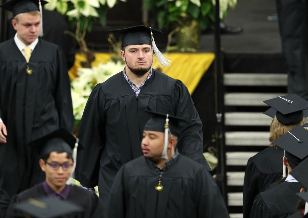 Iowa Football's Ross Reynolds during the Fall Commencement Ceremony  Saturday, December 15, 2018 at Carver-Hawkeye Arena. (Brian Ray/hawkeyesports.com)