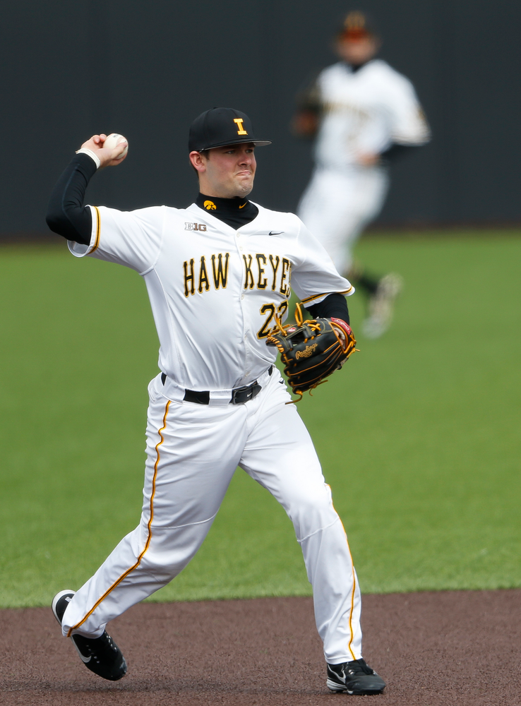 Iowa Hawkeyes infielder Kyle Crowl (23)