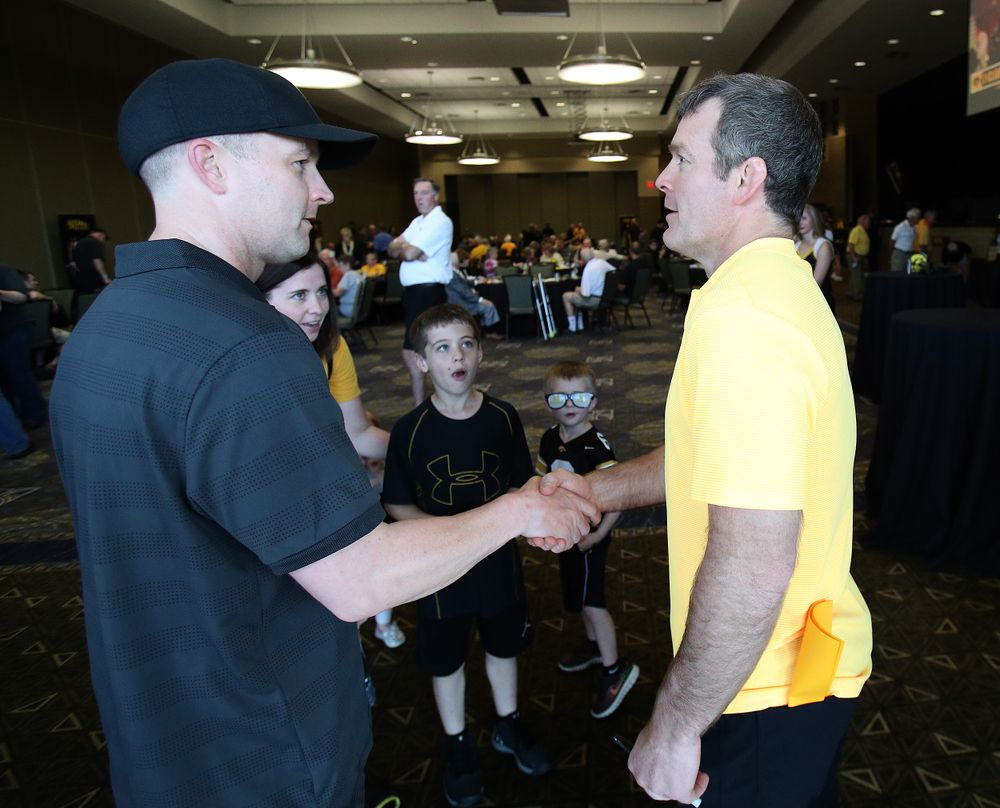 Tom Brands -- Hawkeye Fan Event at the Quad-Cities Waterfront Convention Center in Bettendorf, Iowa, on May 15, 2019.
