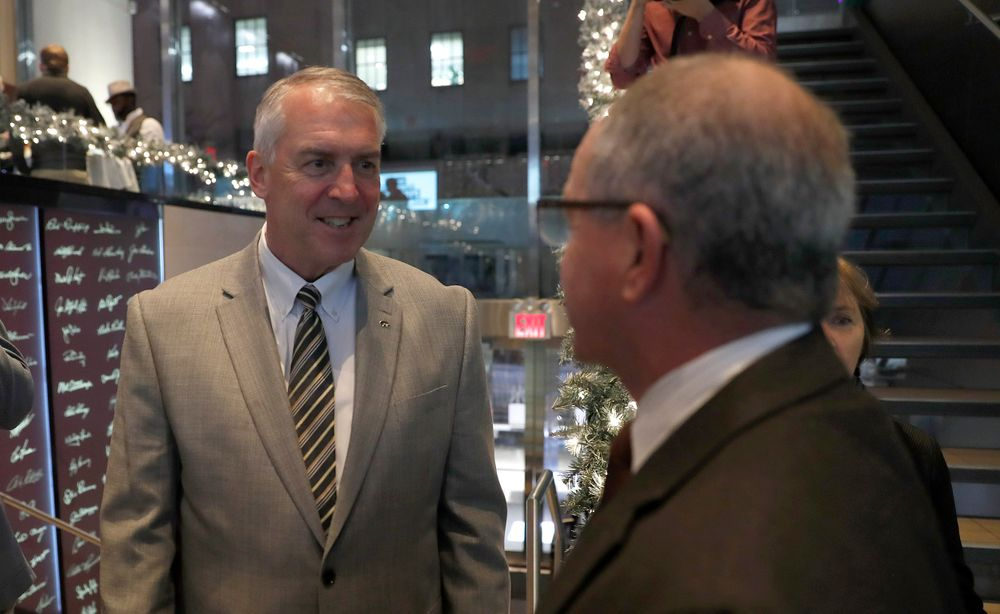 Gary Barta -- President's Welcome Reception at Yankees Steakhouse