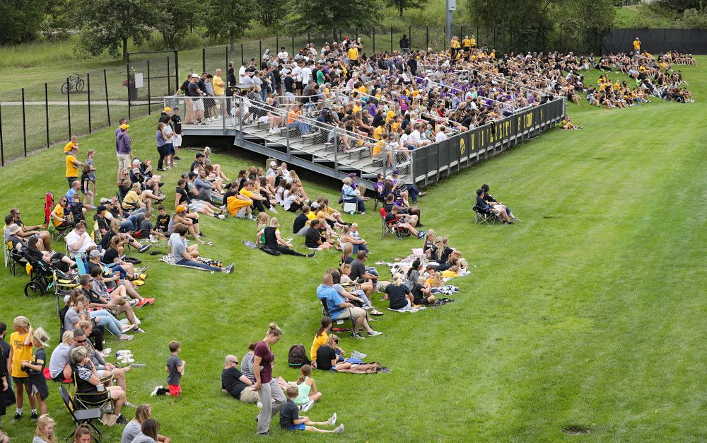 Fan look on during the first half of the Hawkeye match again Northern Iowa at the Iowa Soccer Complex in Iowa City on Sunday, Aug 25, 2019. (Stephen Mally/hawkeyesports.com)