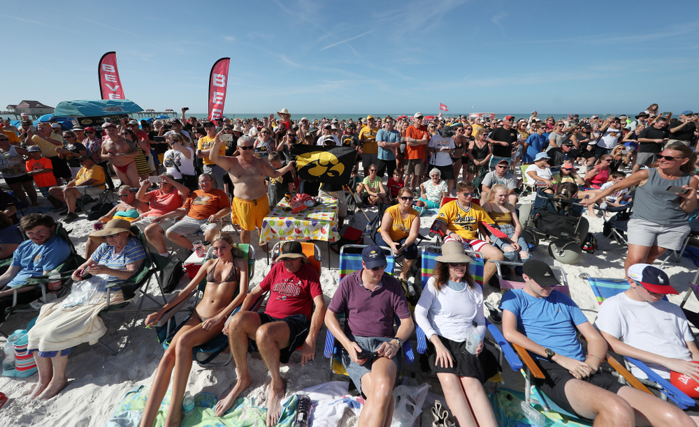 Fans during the Outback Bowl Beach Day Sunday, December 30, 2018 at Clearwater Beach. (Brian Ray/hawkeyesports.com)